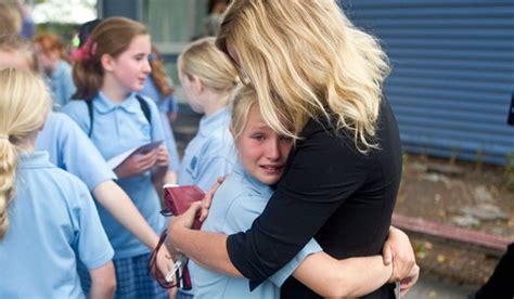 emotional children  goodbye  school days stuffconz