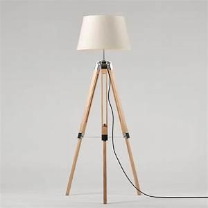 Lampe Sur Pied En Bois : lampe de salon sur pied achat vente lampe de salon sur ~ Dailycaller-alerts.com Idées de Décoration
