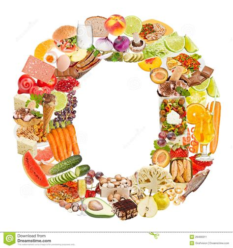 o cuisine letter o made of food stock image image 26400311