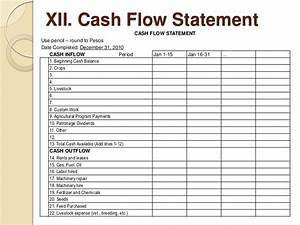 farm records and accounting With farm cash flow template
