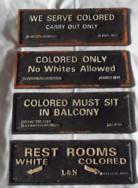 lot   cast iron segregation signs colored carry