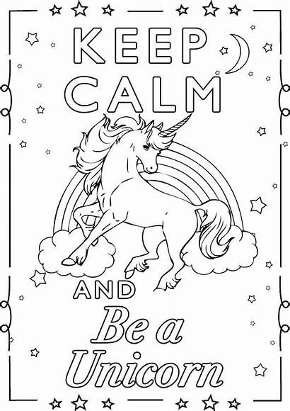 Coloring Unicorn Calm Keep Pages Adults Printable