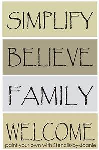 free printable primitive sayings pc stencil set With how do you stencil letters on wood