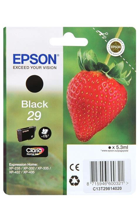 cartouche epson fraise cartouche d encre epson fraise t2981 noir 4150953 darty