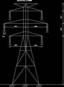 Transmission Line Silhouette In Autocad