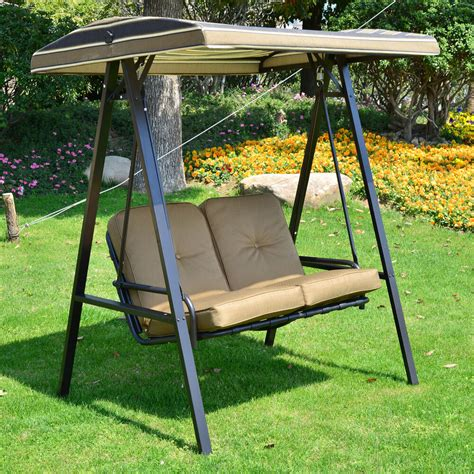 2 Seater Hammock Swing by 2 Seater Garden Metal Swing Chair Swinging Hammock Bench