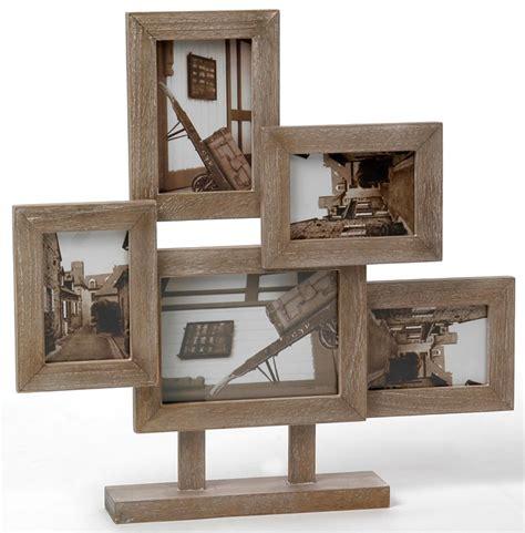 pied de cuisine cadre 5 photos pêle mêle en bois objet de décoration
