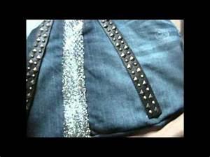 Comment Faire Un Sac : comment faire un sac avec une vieille jupe en jeans youtube ~ Melissatoandfro.com Idées de Décoration