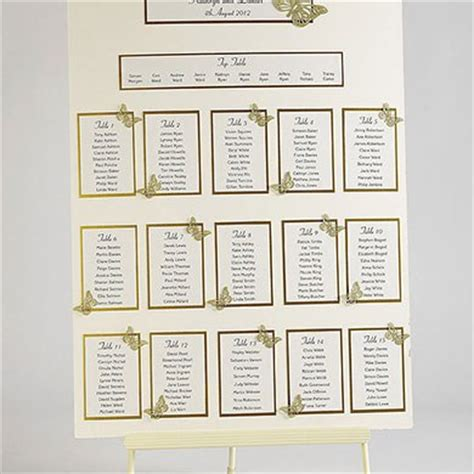 butterfly wedding table plan seating kit  confetticouk