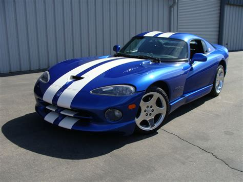 Dodge Viper Blue by 1996 Dodge Viper Gts Blue White Stripes American Supercars