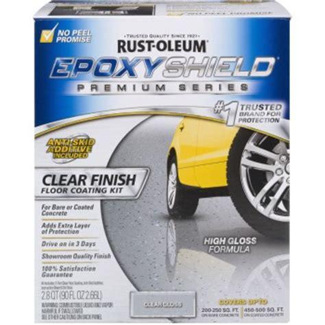 rustoleum garage floor epoxy clear coat buy the rust oleum 225225 epoxy shield clear coating kit