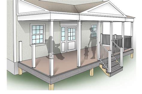 porch blueprints porch design plans inteplast building products