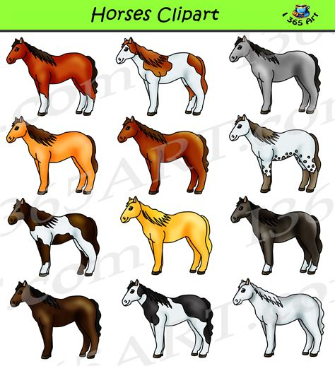 Pony Clip Clipart Pony Graphics Commercial By