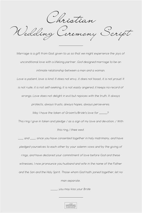 sle wedding ceremony scripts from traditional to non religious 2019
