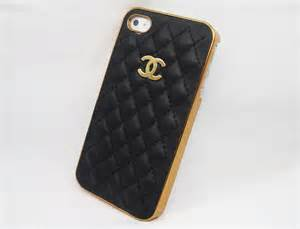 designer iphone designer chanel pu for iphone 4 4s gold logo and frame