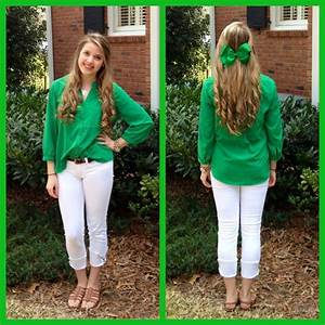St. Patrick's Day Outfit: •green blouse from Old Navy ...