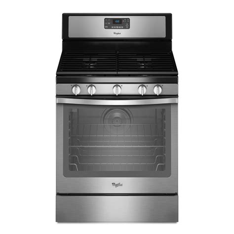 whirlpool 5 burner gas cooktop whirlpool 5 8 cu ft freestanding gas range w center