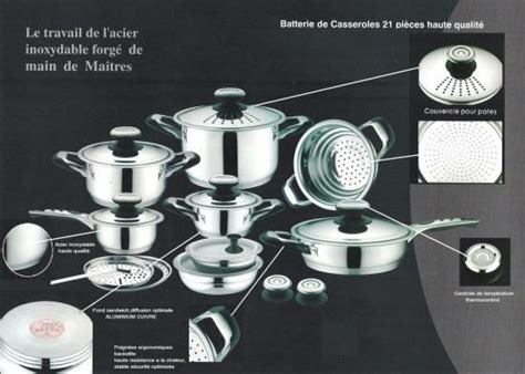 batterie de cuisine amc batterie de cuisine la table des chefs 21 pieces