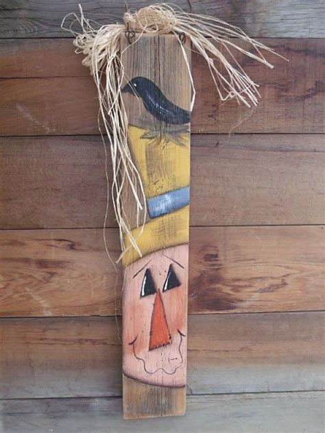 special barn wood fence scarecrow crow fall decoration