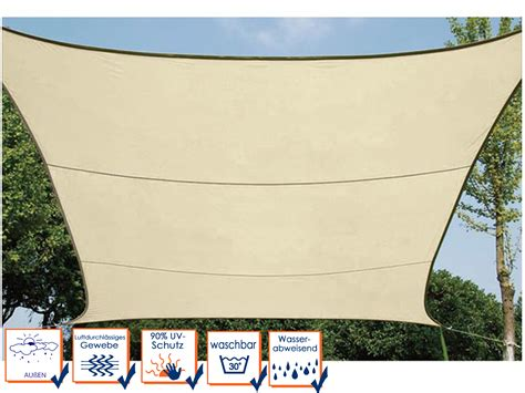 sonnensegel mit ösen sonnensegel viereckig creme 5 m mit 214 sen sonnenschutzsegel
