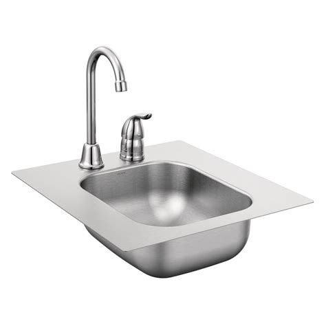 restaurant faucets kitchen moen 2000 series all in one drop in stainless steel 13 in