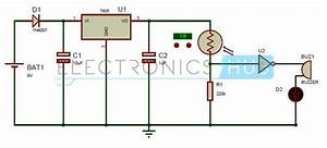 Electronic Eye Controlled Security System Circuit Using