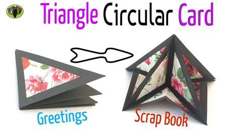 triangle circular popup card  scrap book