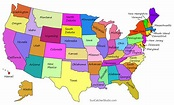 Printable US Maps with States (Outlines of America ...