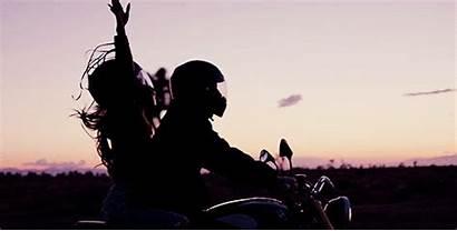 Couple Motorbike
