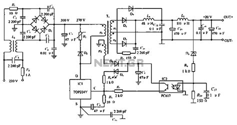 wiring diagram switching power supply gt power supplies gt switch mode gt low noise switching power