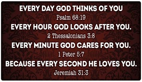 Discover in this article which are the best scripture quotes about the god's love. Every Moment, God Loves You! - Your Daily Verse