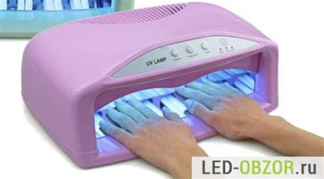 Как пользоваться уф лампой для ногтей Всё о маникюре