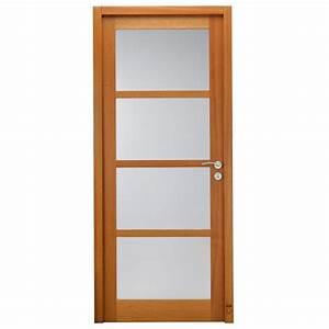porte d39interieur bois claudel vitree pasquet menuiseries With porte de garage enroulable avec porte intérieure bois vitrée