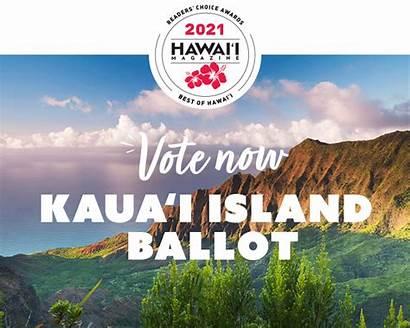 2021 Choice Awards Readers Kauai Magazine Hawaii