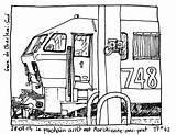 Locomotive Train Transportation Coloring Printable Drawing Drawings Kb sketch template
