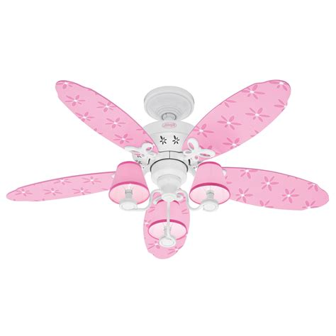kids ceiling fans with lights shop hunter 44 in dreamland white kids ceiling fan with