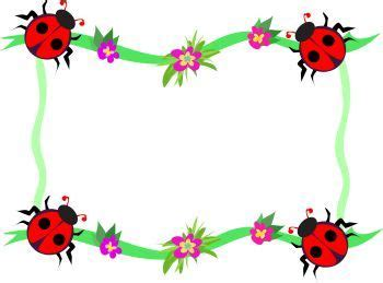 whimsical ladybug frame page decoration royalty