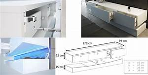 Meuble Tv Suspendu Led : meuble tv suspendu lumineux novomeuble ~ Melissatoandfro.com Idées de Décoration