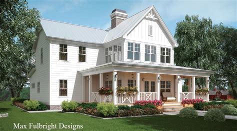 small cottage plans with porches farmhouse plan by max fulbright designs at home