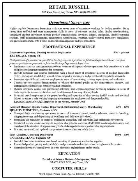 resume for retail management 28 images retail sales