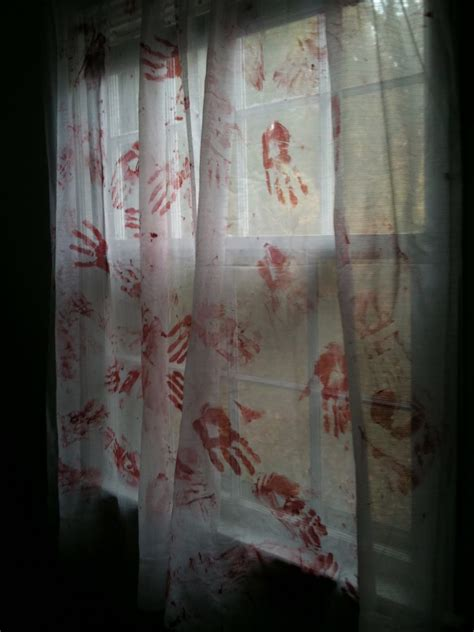 halloween zombie decorations bloody blood party streamers zombies diy apocalypse cloth residencestyle drapes scare stunning guest stained curtains doing table