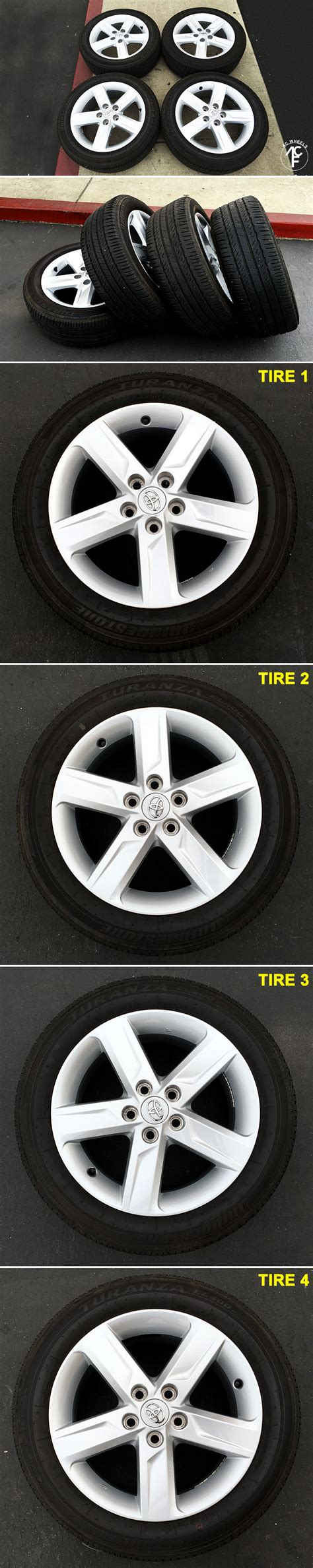 17x7 2014 toyota camry factory oem wheels rims and tires