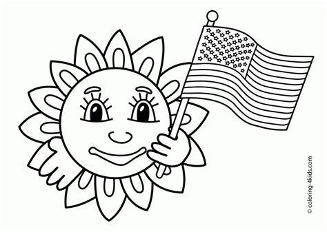 printable usa flag coloring home