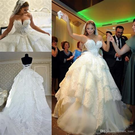 pnina tornai court train tulle lace ball gown wedding