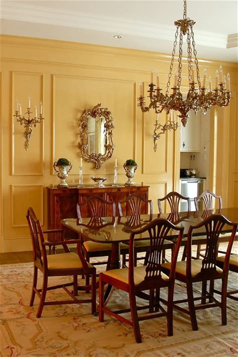 dining  mustard traditional dining room montreal