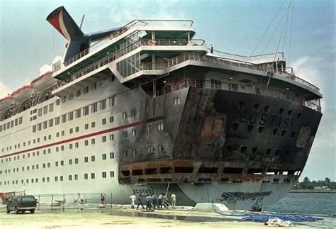 A Look Back The Carnival Ecstasy Fire Of 1998 At Miami Beach  Cruise Law News