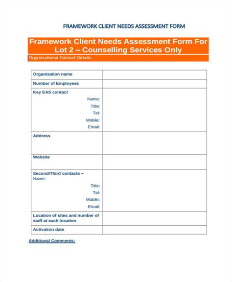 assessment forms   excel ms word