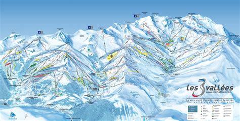 trail map les 3 vall 233 es val thorens les menuires m 233 ribel