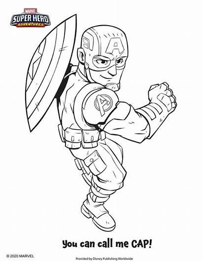 Coloring Marvel Hero Disney Sheets Adventures Superhero