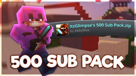 500 Sub Texture Pack Release Hypixel Bedwars Youtube